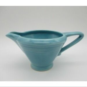 Vintage Harlequin Turquoise Blue Creamer